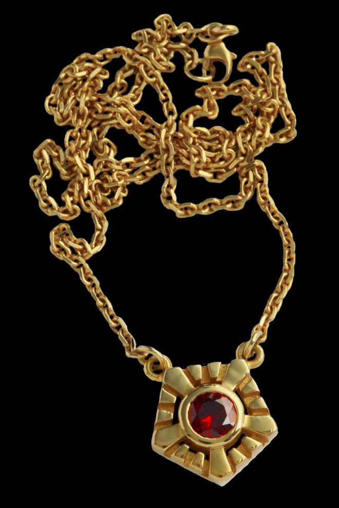 Helia Necklace With Garnet - Annika Burman Jewellery  - 1