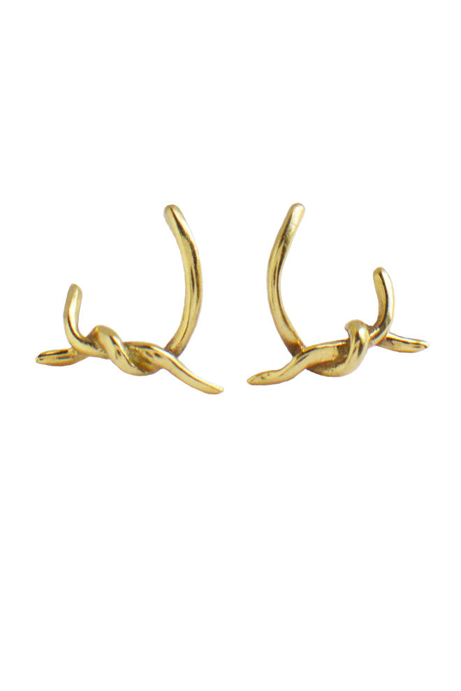 Knotted Earrings In 18ct Gold - Annika Burman Jewellery  - 3