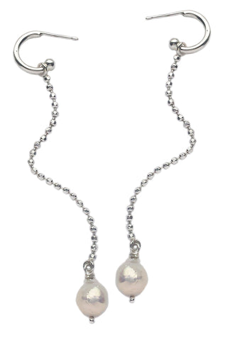 Long Earrings With Baroque Pearls