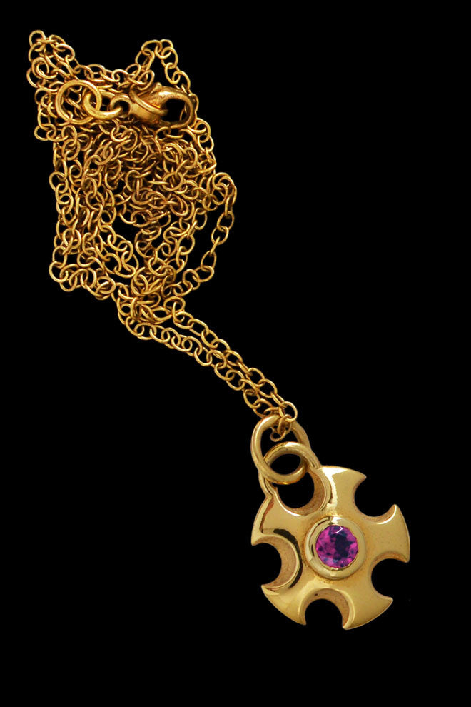 Metropolis Pendant Necklace With Rhodolite Garnet