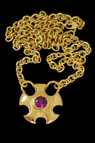 Large Metropolis Necklace With Rhodolite Garnet