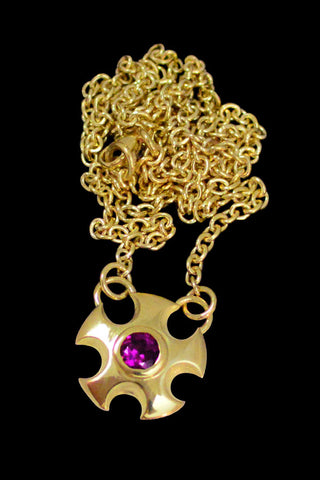 Metropolis Necklace With Rhodolite Garnet