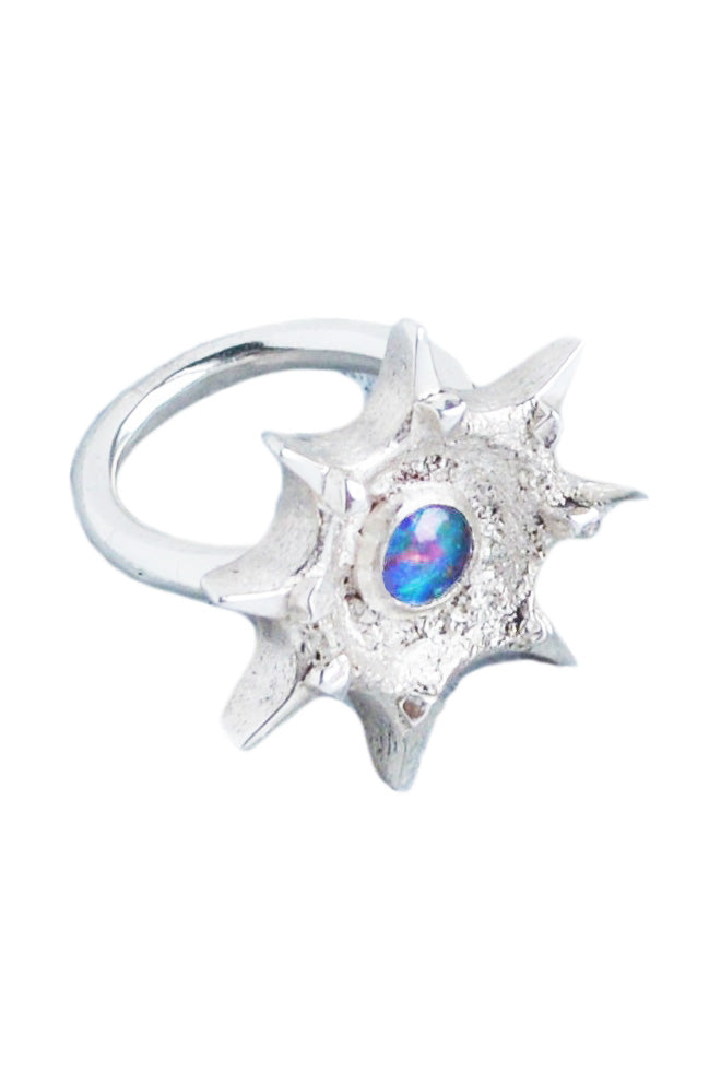 Nebula Ring With Opal