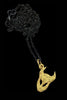 Small Demon Pendant In Gold Vermeil