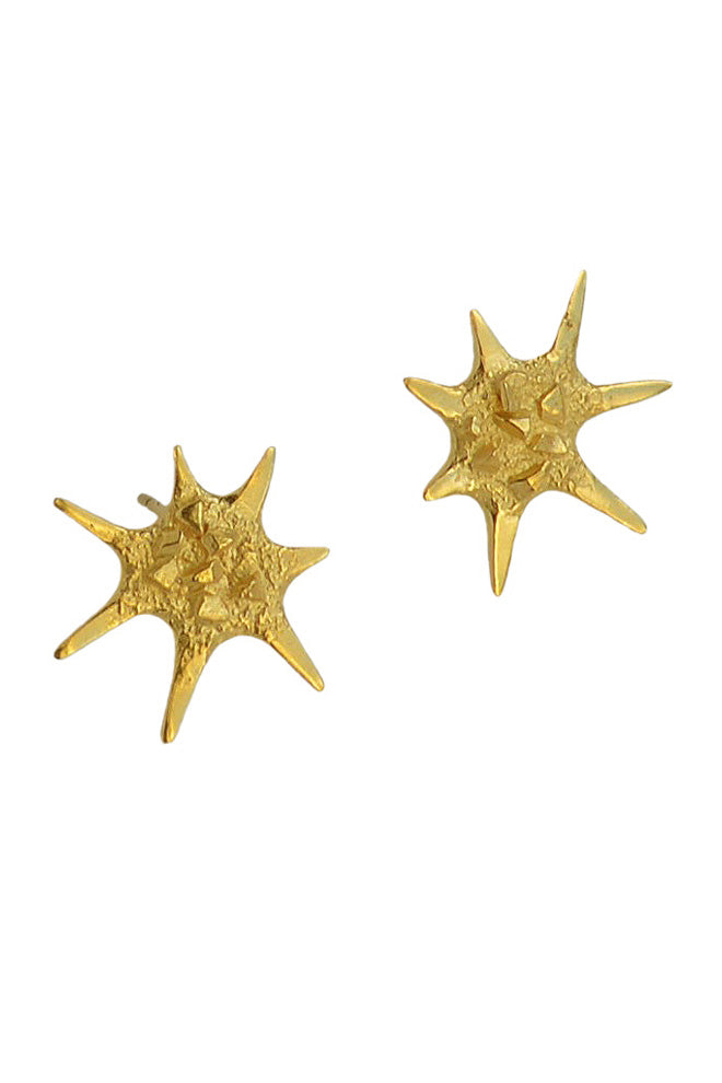 Star Earrings In Gold Vermeil