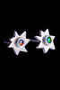 Star Stud Earrings With Opals