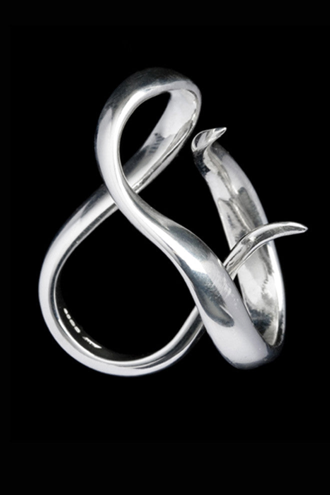 Wrap Around Ring In Silver - Annika Burman Jewellery  - 1
