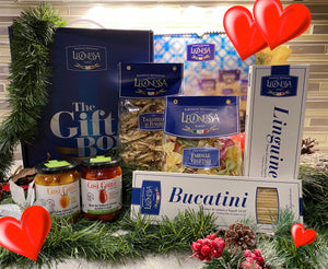 Personal Gift Box : 4 packs pasta by Leonessa+ 2 Jars of Cherry Tomatoes