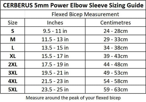 5mm POWER Elbow Sleeves