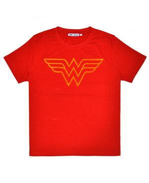 Women's Wonder Woman Tuft Logo Tee