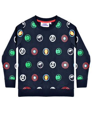 Avengers Multi Logo Repeat Sweatshirt