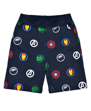 Avengers Multi Logo Repeat Sweatshorts