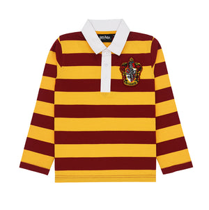 Kids Harry Potter Gryffindor Rugby Long Sleeve Stripe Tee