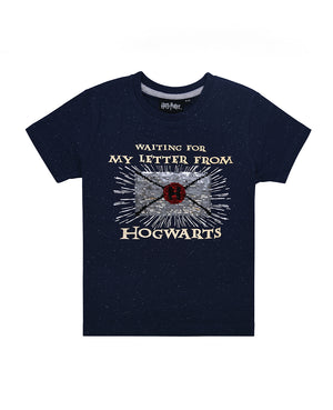 Harry Potter Waiting for my Letter to Hogwarts Sequin Tee