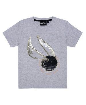 Harry Potter Flip Sequin Snitch Tee