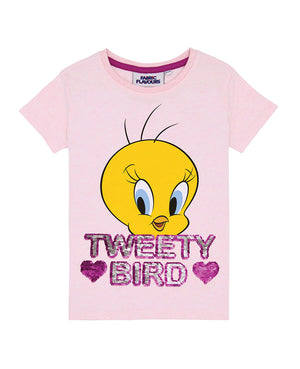 Tweety Flip Sequin Tee