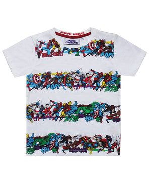 Marvel Hero's Stripe Tee
