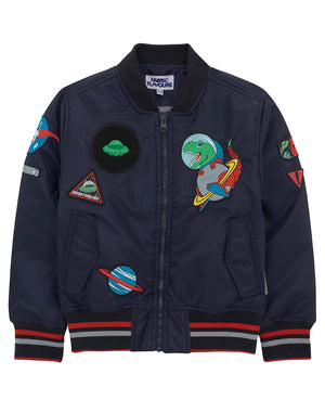 Out Of This World Badge Bomber Jacket
