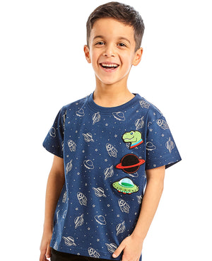 Out Of This World Curved Hem Tee