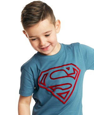 Superman Tuft Logo Tee