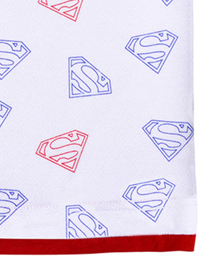 Superman Repeat Print Piqué Tee