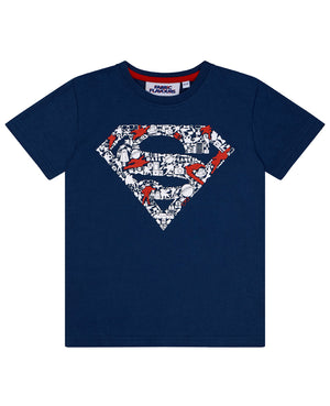 Superman Raised Logo Tee