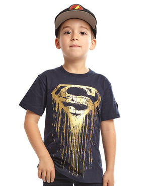 Superman Foil Logo Tee