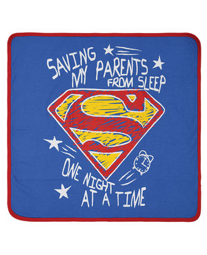 Superman Saving Parents From Sleep Blanket