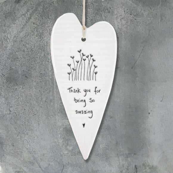 East if India porcelain hanging heart