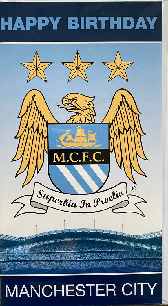 Danillo Publications Manchester City Birthday Card