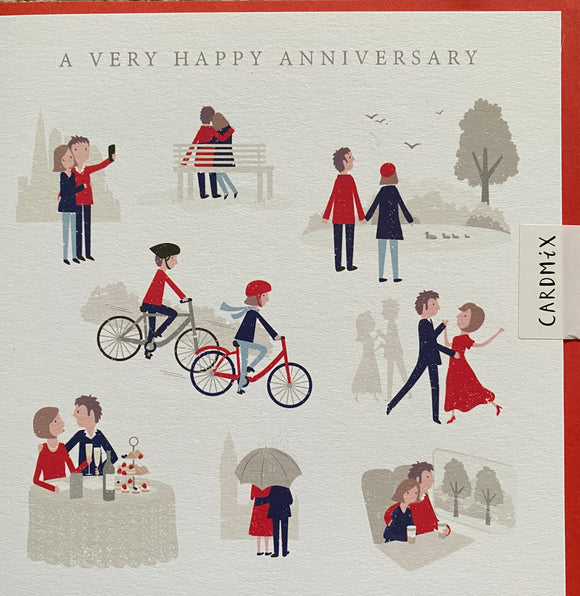 Cardmix Anniversary Greetings Card