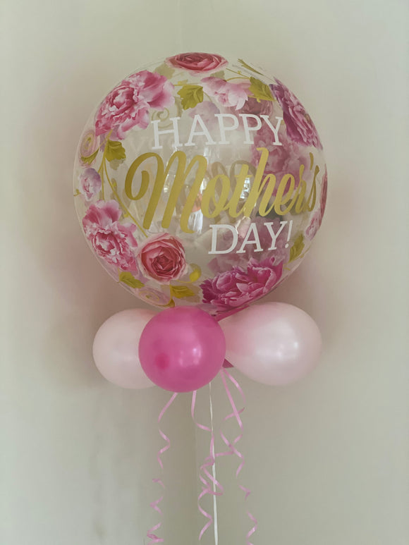 Mother's Day rose design clear bubble balloon