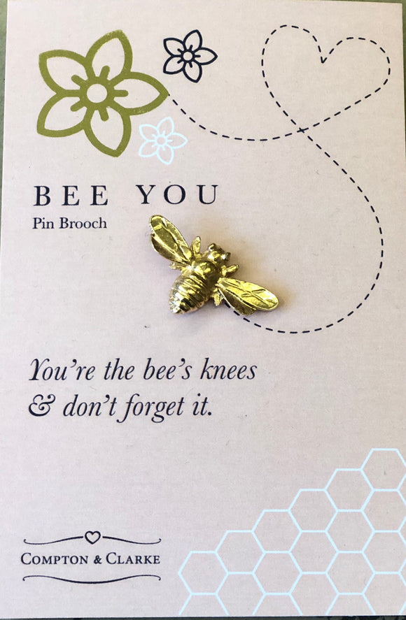 """Bee you"" pin brooch by Compton & Clarke"