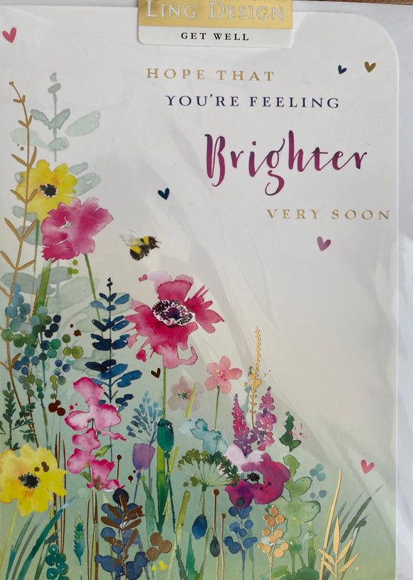 Ling design Get Well greetings card