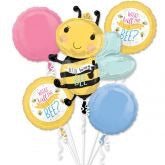"""What will the little honey bee"" baby shower bouquet"