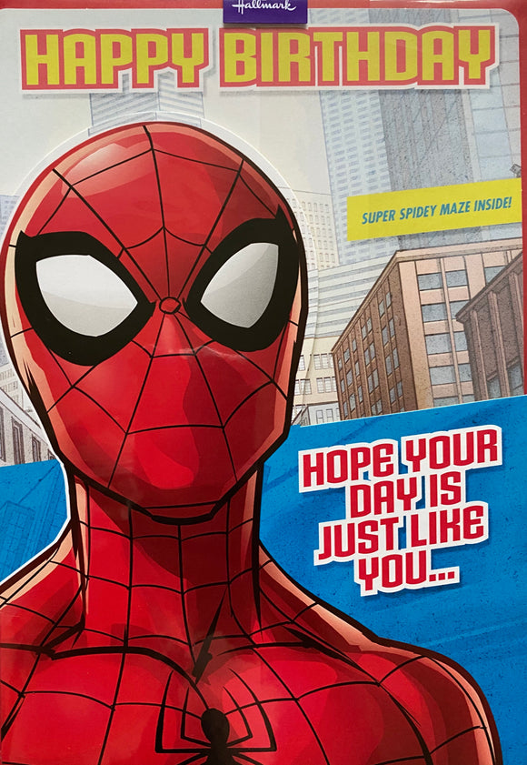 Hallmark spider man birthday card