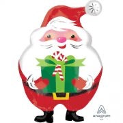 20 inch Santa shaped foil helium balloon