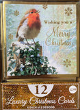Value box of 12 assorted Christmas cards