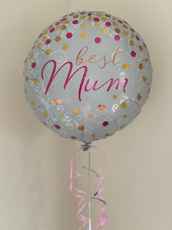 Singles foil Mother's Day balloon