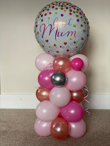 Mother's Day balloon tower