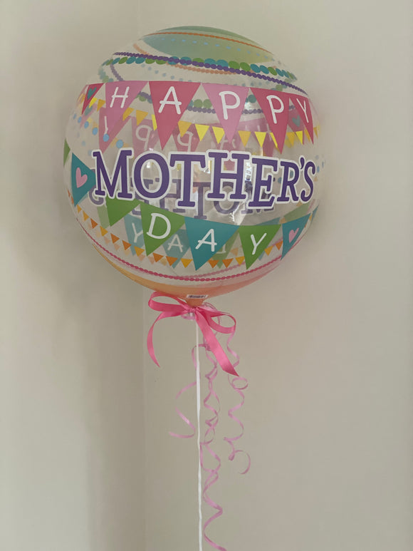 Mother's Day clear bubble balloon