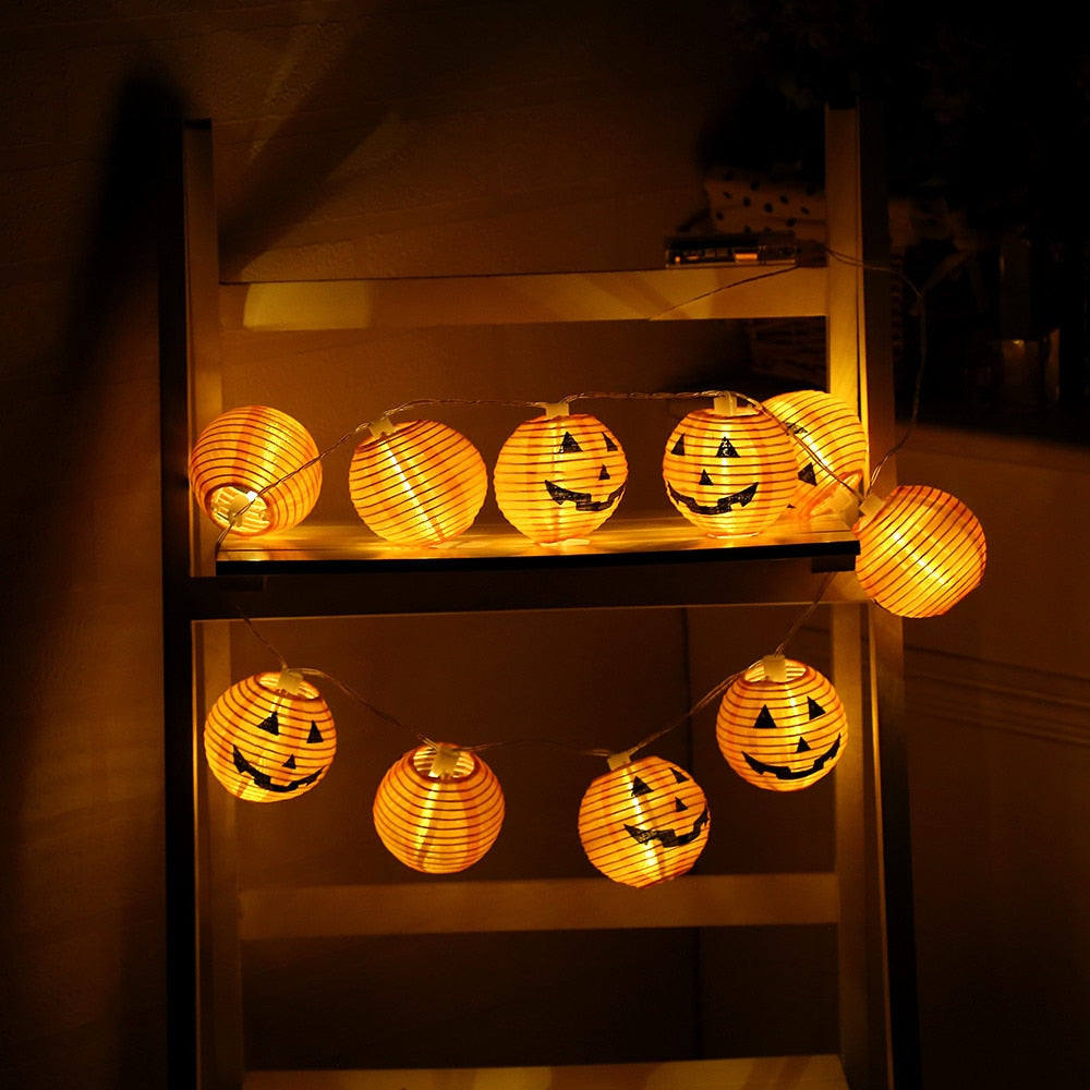 1 Set Pumpkin 10 LED String Lights Halloween Decoration Lights