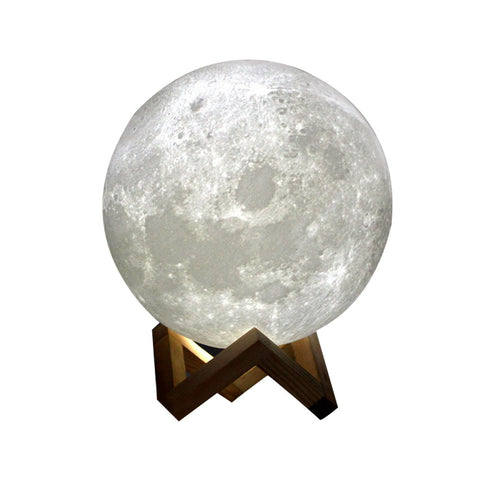 Rechargeable 3D Printing Moon Lamp With Touch Control USB Charging Light
