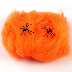 Halloween Scary Party Scene Props White Stretchy Spider