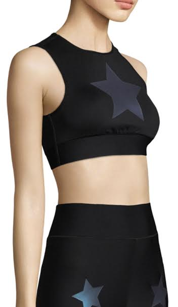 UltraCor Level Knock Out Star Bra Front View Black