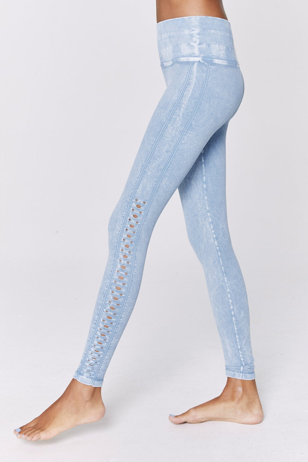 Spiritual Gangster Self Loving Legging Aqua Blue Side View