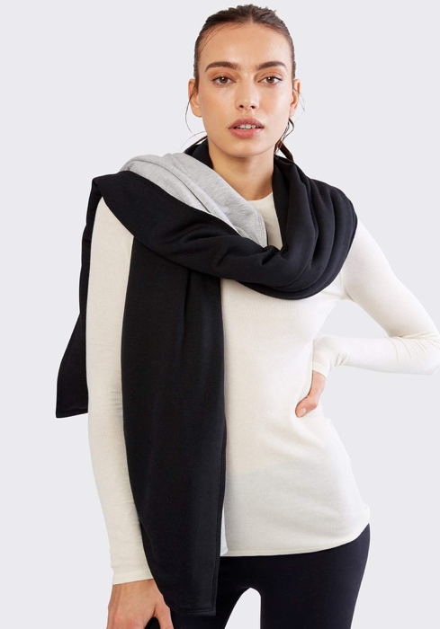 Julia Oversized Wrap (Black/ Heather Gray)