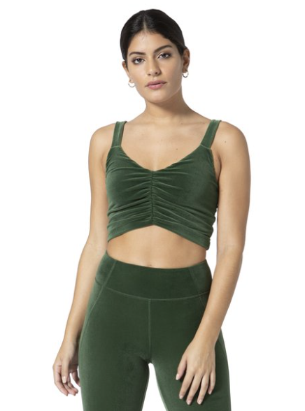 Vimmia gemini scrunch tank in emerald