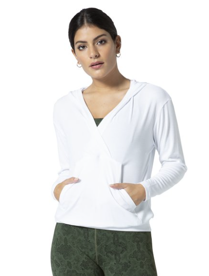 Vimmia surplice hoodie in white