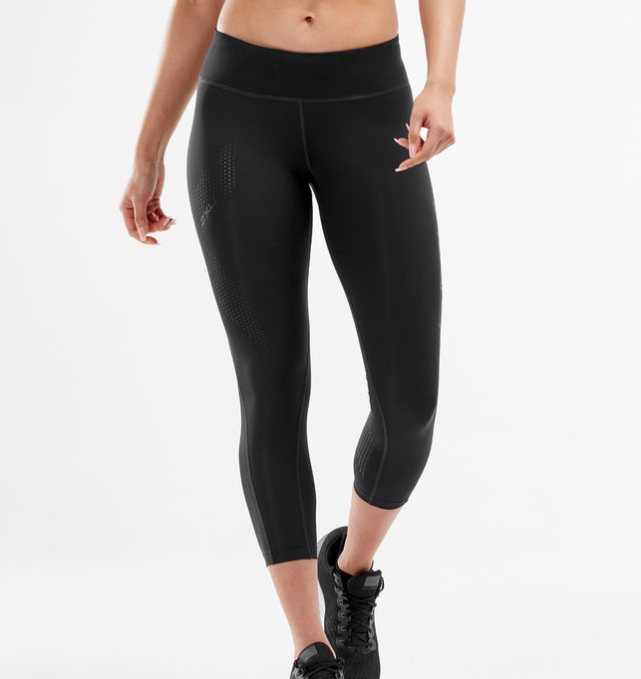 2XU Mid-Rise Compression Tights 7/8 Front View